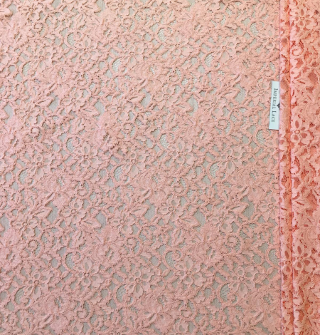 Peach lace fabric. Photo 6