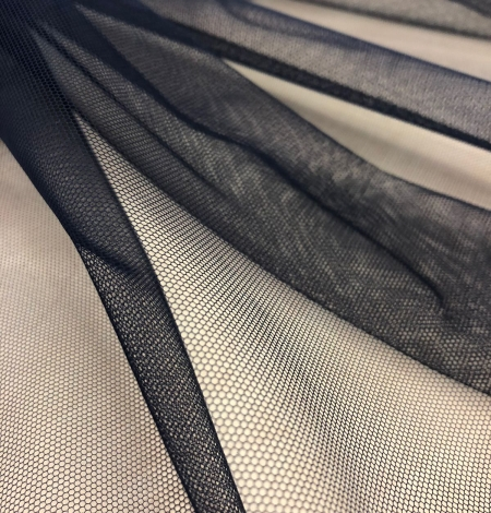 Dark blue tulle fabric. Photo 7