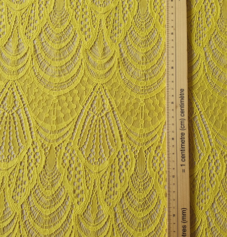 Yellow lace fabric. Photo 7