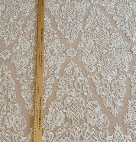 Luxury bridal beaded lace fabric. Photo 4