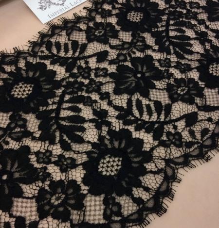 Black viscose lace trim. Photo 1