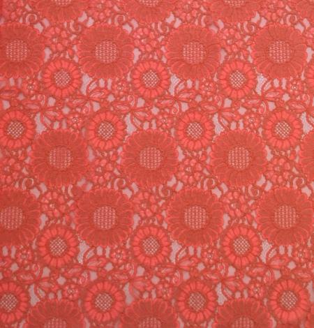 Orange Lace Fabric. Photo 2