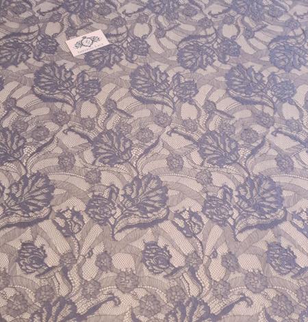 Graphite gray lace fabric. Photo 4