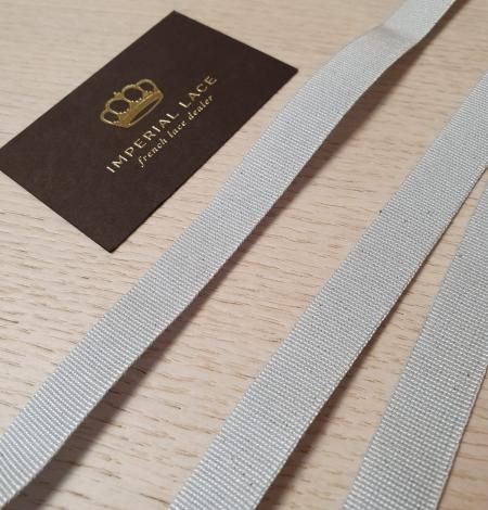 Grey grosgrain viscose ribbon. Photo 1