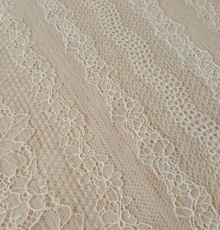 Champagne lace fabric. Photo 8