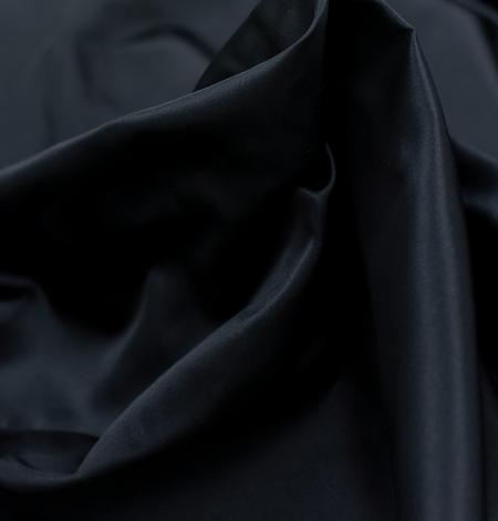 Black silk duchess fabric. Photo 2