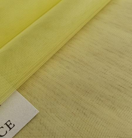 Yellow tulle fabric. Photo 4