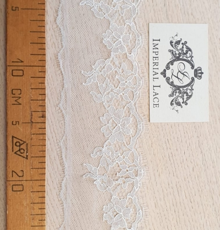Light grey natural chantilly lace trimming by Jean Bracq. Photo 5