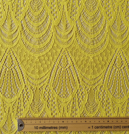 Yellow lace fabric. Photo 8