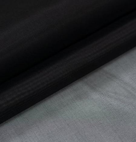 Black silk organza fabric . Photo 5