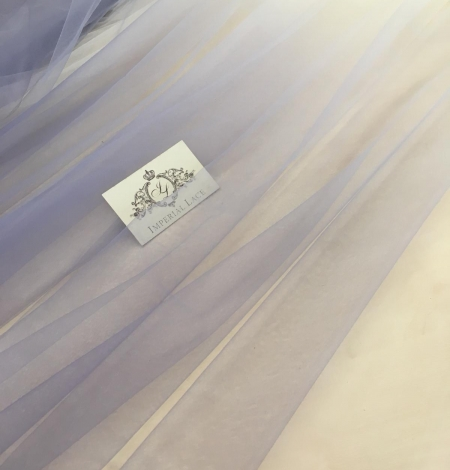 Lilac ombre tulle fabric. Photo 1