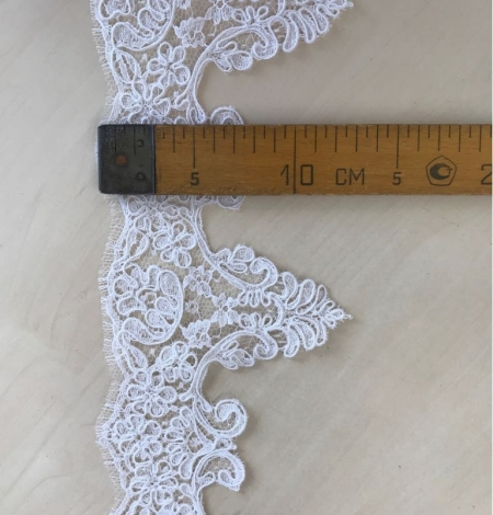 White bridal lace trim. Photo 6