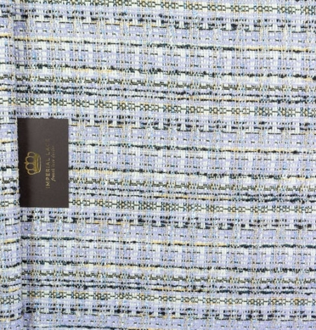 Lilac with blue shade with multicolor tweed fabric. Photo 6