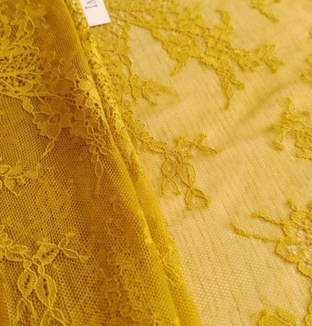 Mustard lace fabric. Photo 8