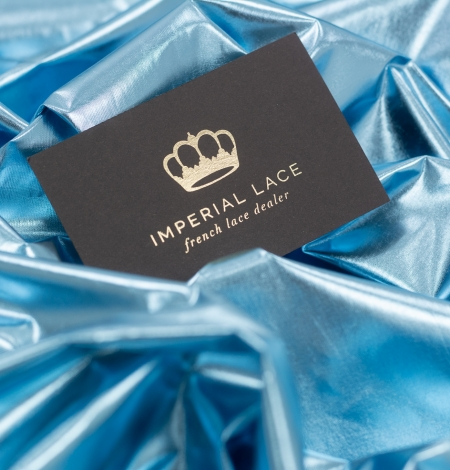 Blue color shiny rain coat fabric. Photo 3