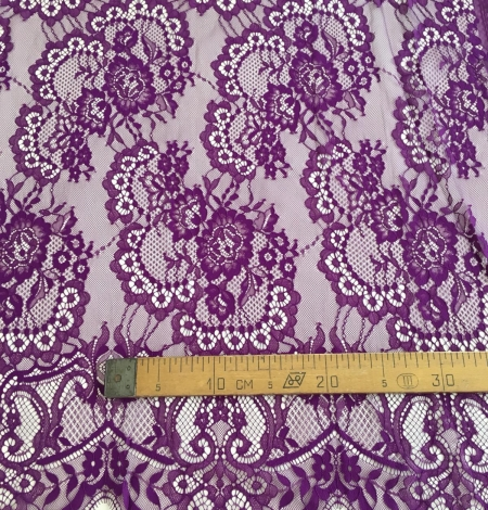 Violet lace fabric. Photo 9