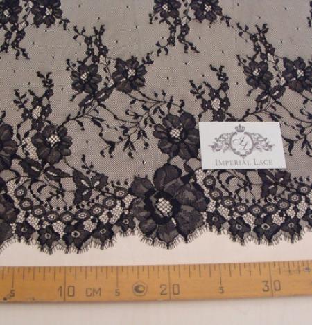 Black Lace fabric . Photo 4