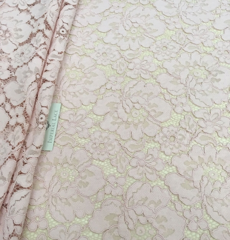 Light Pink Lace Fabric. Photo 3