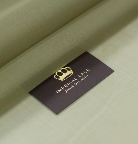 Olive green silk organza fabric . Photo 1