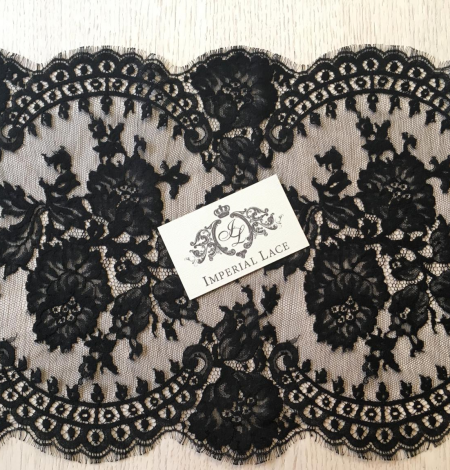 Black lace trimming from France. Photo 6