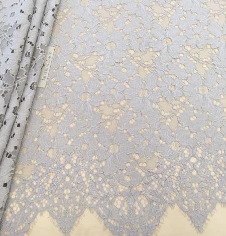 Gray lace fabric. Photo 1