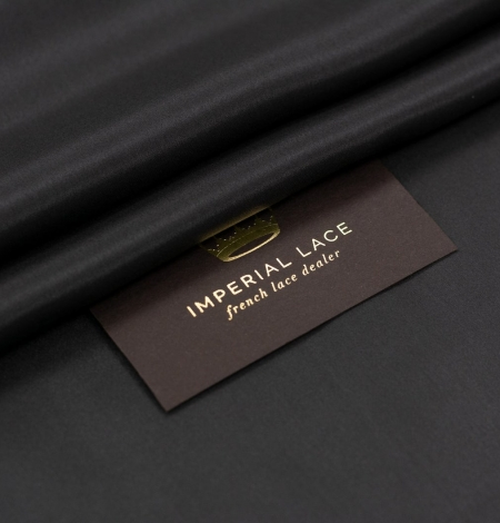 Black grey silk lining fabric . Photo 1