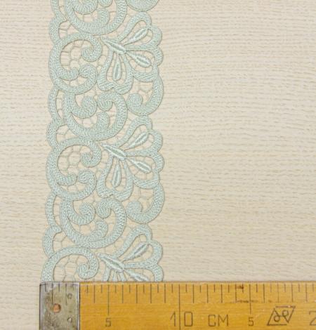 Olive green organic macrame lace trim. Photo 6