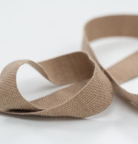 Brown lana wool ribbon . Photo 4