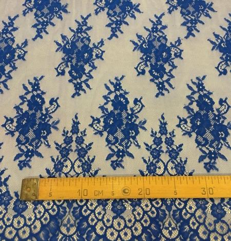 Blue lace fabric. Photo 9