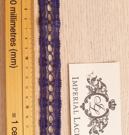 Lilac blue chantilly lace trimming. Photo 7