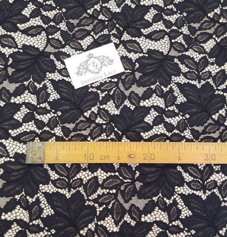 Black Lace Fabric. Photo 6