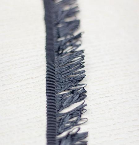 Black grosgrain ribbon with plastic fringes. Photo 3