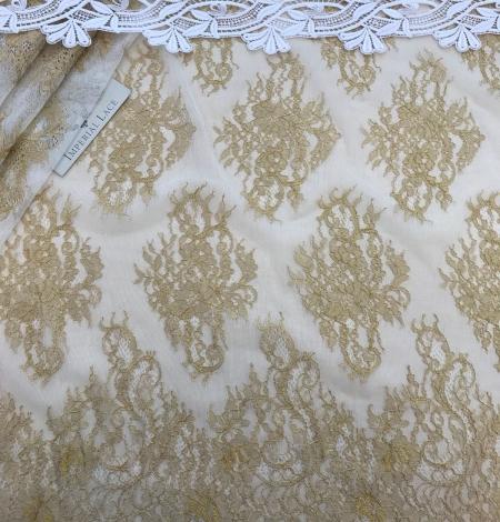 Gold lace fabric. Photo 5