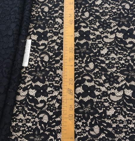 Black lace fabric. Photo 7