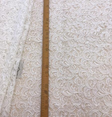 Ivory bridal lace fabric. Photo 8