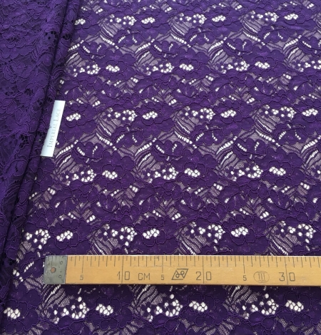 Violet guipure lace fabric. Photo 6