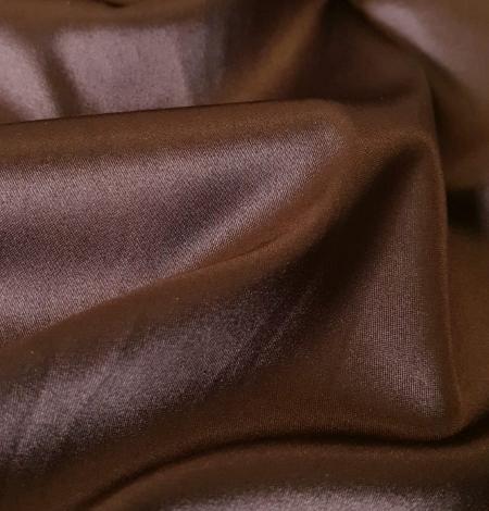 Chocolate brown satin with elastane. Photo 3