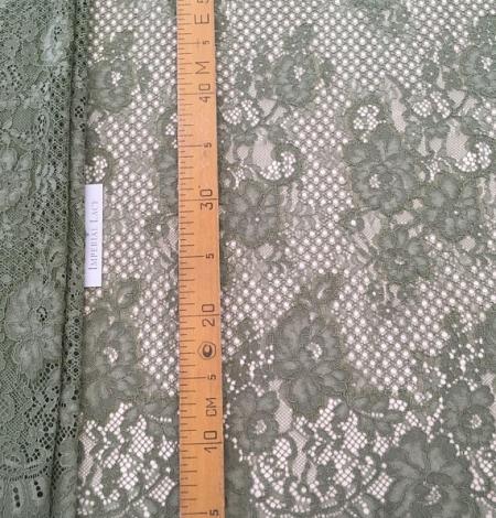 Khaki lace fabric. Photo 8
