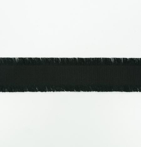 Black ribbon with fringes on both sides. Photo 8