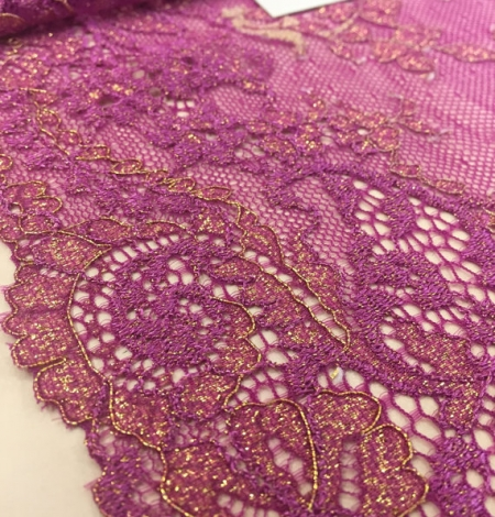 Violet with gold lace trim. Photo 3