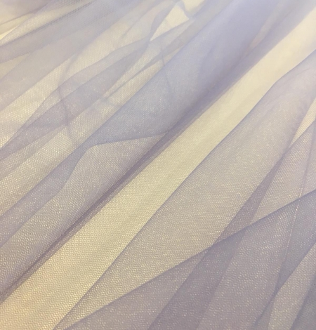 Lilac ombre tulle fabric. Photo 9