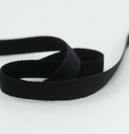 Black lana wool ribbon. Photo 4
