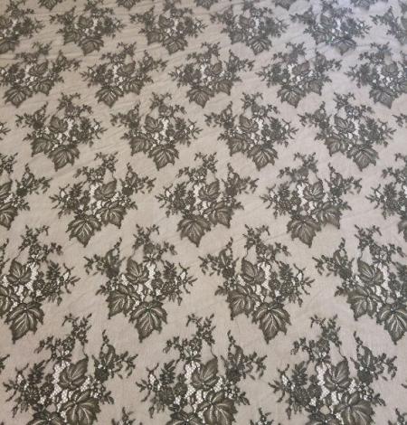 Tobacco green lace fabric. Photo 2