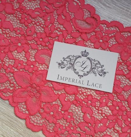 Raspberry alencon Lace Trim. Photo 2