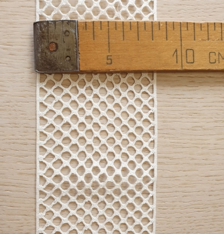 Ivory cotton mesh lace trimming. Photo 7