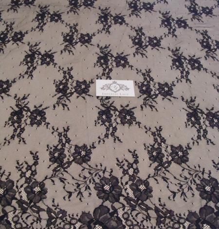 Black Lace fabric . Photo 2