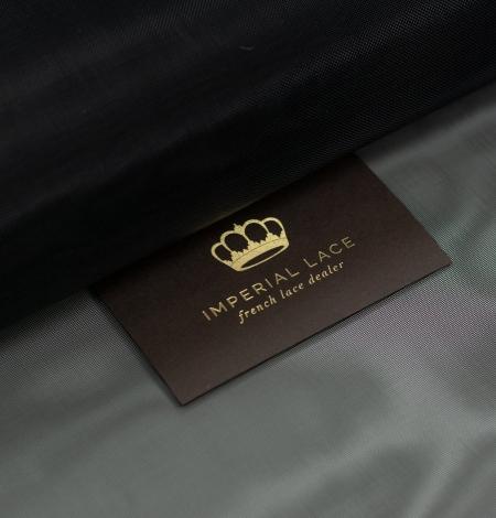 Black crinoline fabric . Photo 1