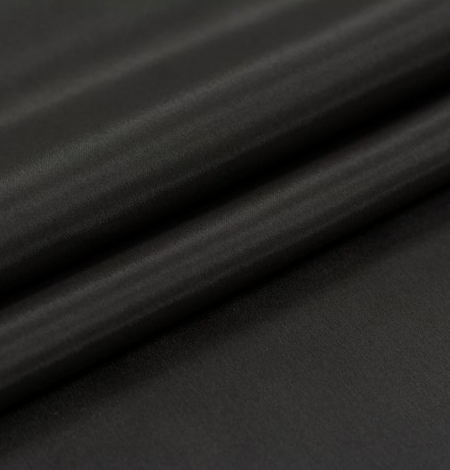 Dark brown Brunelli viscose with elastane lining fabric. Photo 6