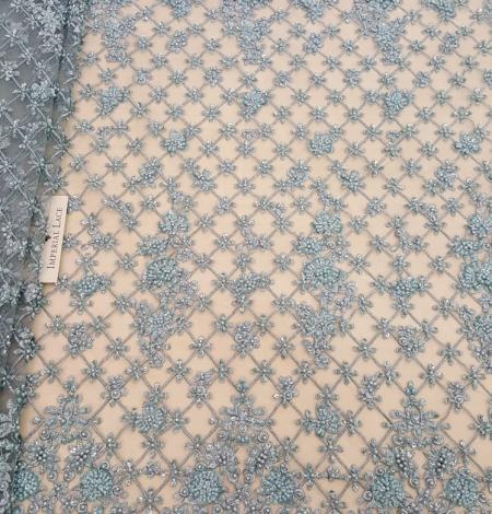 Sea blue beaded lace. Photo 1