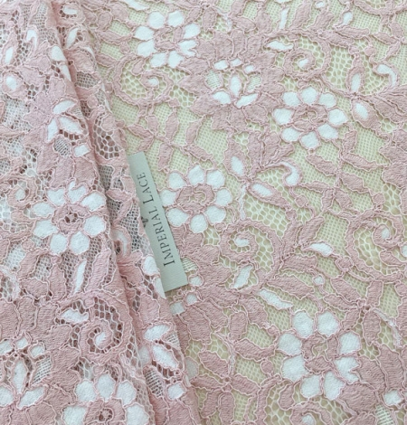 Pink lace fabric. Photo 4